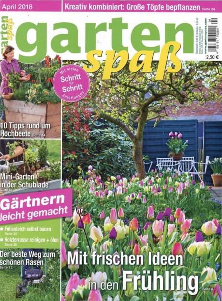 gartenspaß im Abo - aktuelles Zeitschriftencover